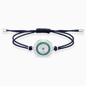 Swarovski sand bracelet, blue, stainless steel